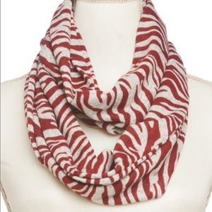 Accessories - ❤️3 for $28❤️ Red & Natural / Infinity Scarf